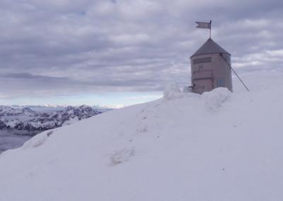 Aljažev stolp na vrhu Triglava