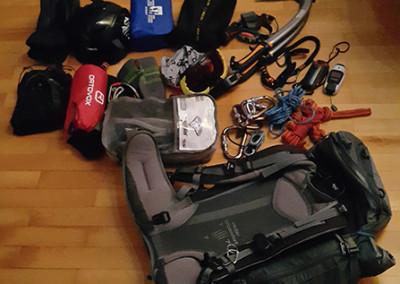 Priprava nahrbtnika