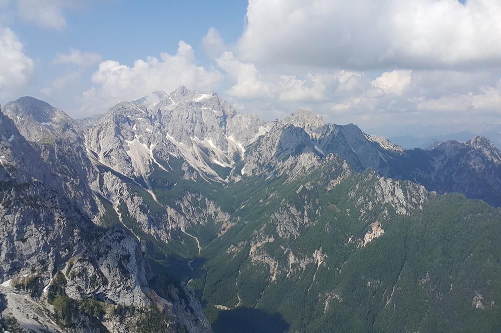 Pogled na KSA - Brana, Turska gora, Grintovec, Skuta, Rinke, Mrzla gora, ...