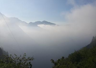 Pogled v dolino Kamniške Bistrice