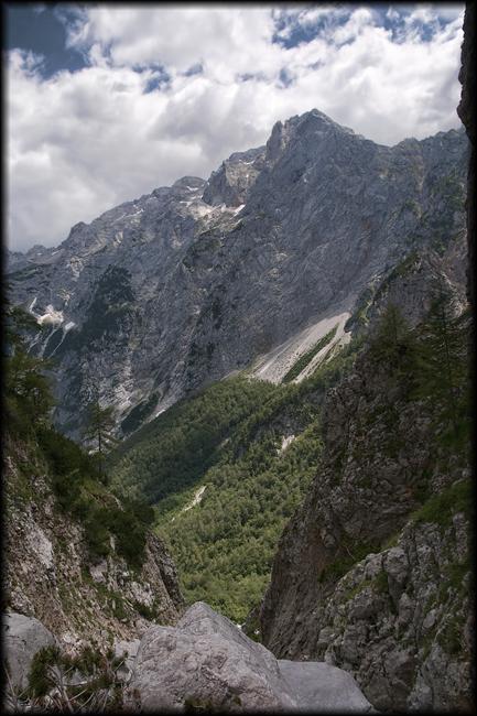 Pogled iz vrha slapa
