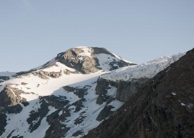 Jutranji pogled na ledenik Teischnitzkees in vrh Gramul 3276m