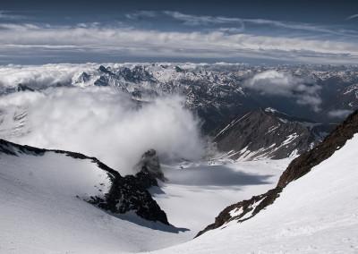 To spodaj je ledenik Kodnitzkees