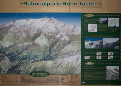 Karta naravnega parka - Visoke Ture
