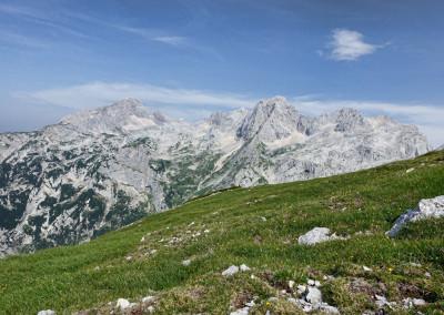 Pogled na Grintovec, Dolgi hrbet, Štruca, Skuto, ...
