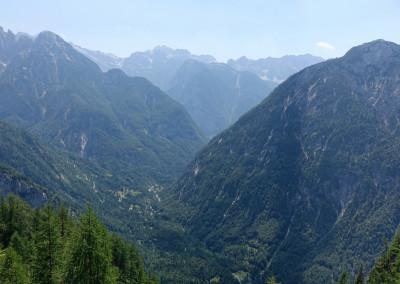Pogled v dolino proti Trenti