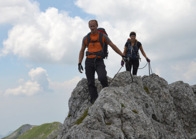 Jože in Sara na grebenu