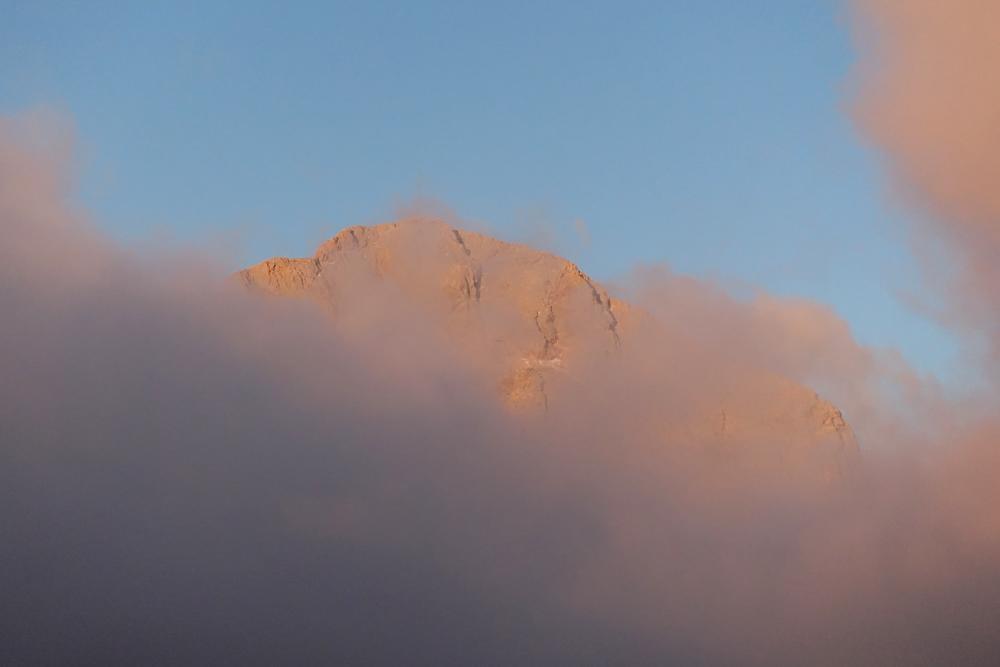 Jutranji pogled na vrh
