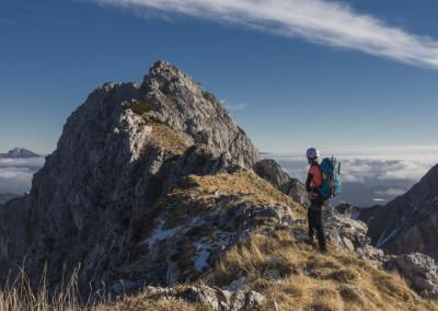 Po grebenu od Viševnika 2050m do Velikega Draškega vrha 2243m