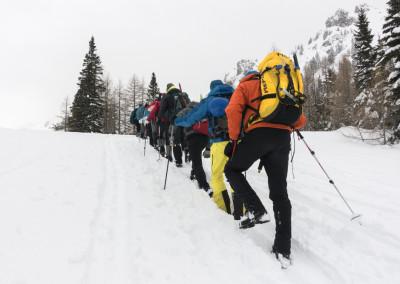 Tečaj varnega gibanja po gorah v zimskih razmerah – marec 2016
