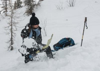 Iskanje zasutega - izkopavanje