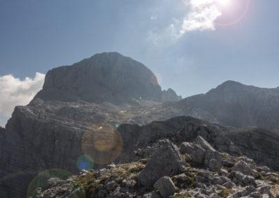 Pogled na Triglav iz vrha Plemenic