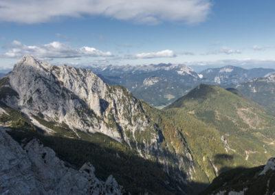 Pogled na Veliko Koroško Babo in njen greben