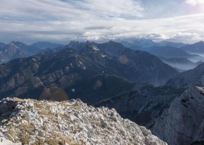 Pogled na greben Košute