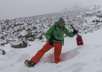 Prerez snežne odeje II.
