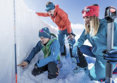 Preverjanje trdnosti snezne odeje