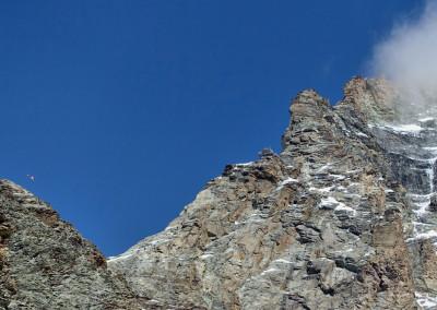 Pričetek Levjega grebena z bivakom Carell