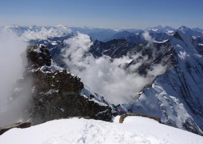 Pogled na prehojen greben