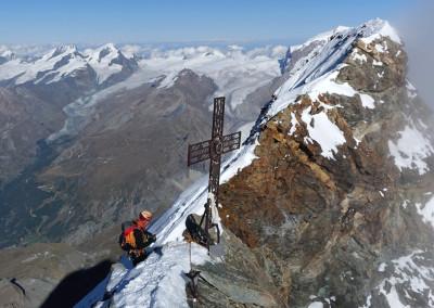 Boris, sedlo in križ med Švicarskim in Italijanskim vrhom