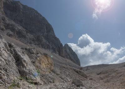 Dolina med Glavo v Zaplanji in Triglavom
