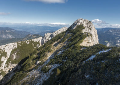 Krnička gora in greben po katerem sestopimo