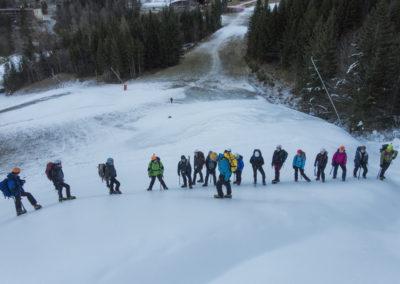Tečaj varnega gibanja po gorah v zimskih razmerah – december 2016