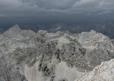 Greben Vrbanovih špic in greben Cmira