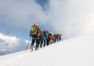 Naslednje jutro proti vrhu
