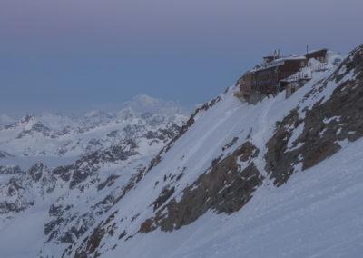Koča Capana Gnifetti na 3647m